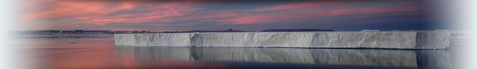 Sunset over iceberg