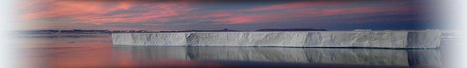 Sunset over iceberg