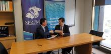 Ceremonia de la firma del acuerdo entre la CCRVMA y la SPRFMO