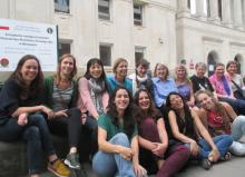 The women of WG-EMM-15 gather in front of the meeting venue in Warsaw, Poland