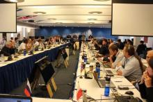 Les délégués à la 37e réunion de la Commission