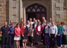 Сотрудники АНТКОМ с губернатором Тасмании
