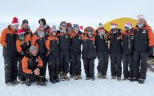 Ancienne stagiaire de la CCAMLR, Emily Robinson, en Antarctique avec l'université de Canterbury