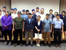Attendees of the Korean observer training workshop sporting their CCAMLR Scientific Observer beanies