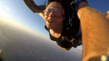 Myoin Chang skydiving