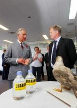 El Príncipe Carlos de Inglaterra habla sobre la ordenación sostenible de pesquerías con representantes de la CCRVMA